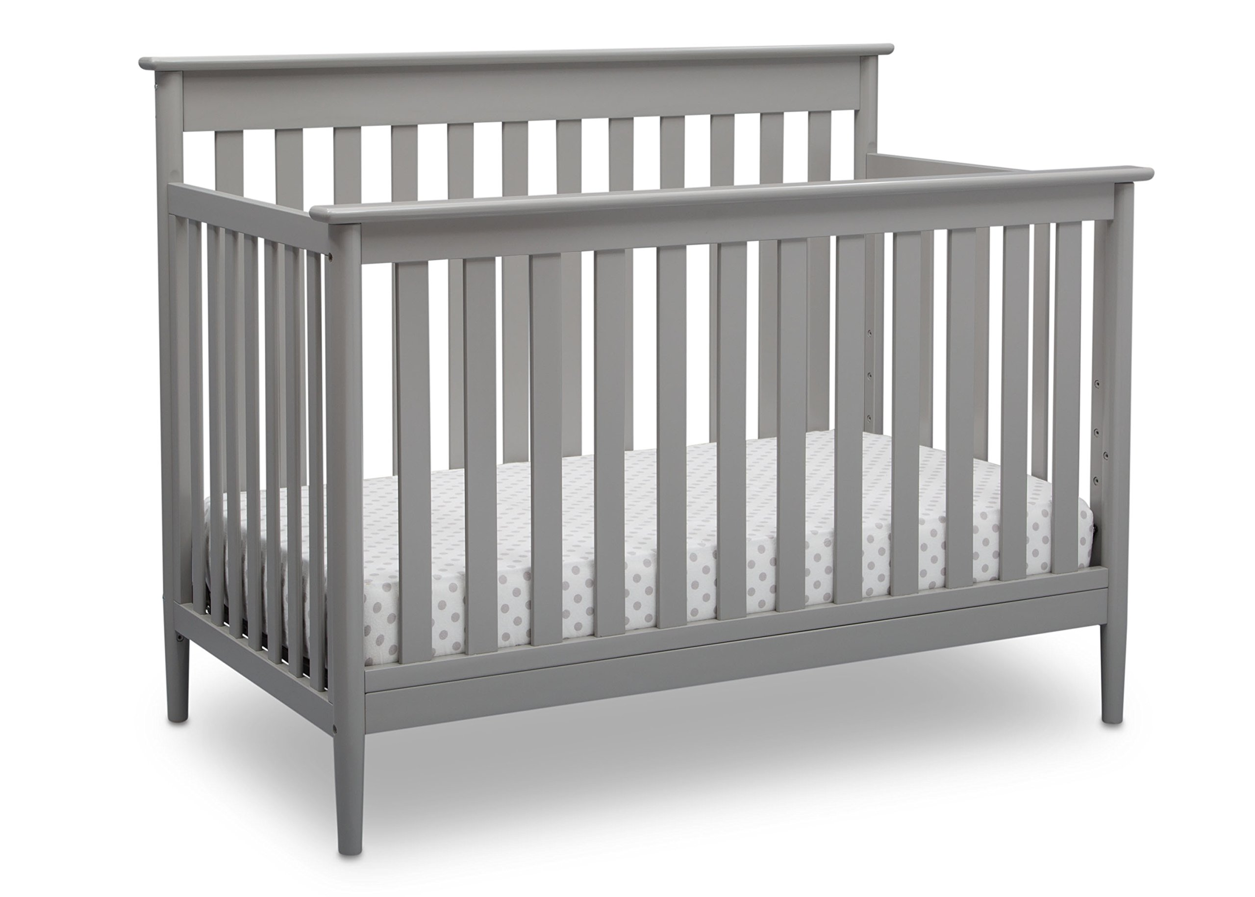 Delta Children Greyson Signature 4-in-1 Convertible Baby Crib, Grey