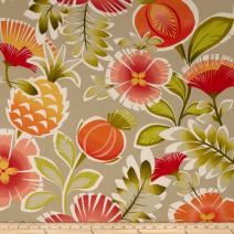 P Kaufmann 0332486 Indoor/Outdoor Calypso Tangerine Fabric by The Yard,