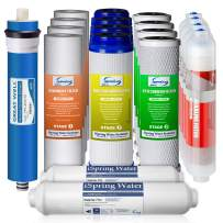 iSpring F19K75 2-Year Replacement Supply Set for 6-Stage Reverse Osmosis RO Water Filtration Systems with Alkaline Mineral Filter