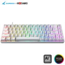 Durgod Hades 68 RGB Mechanical Gaming Keyboard - 65% Layout - Cherry Profile - NKRO - USB Type C - Aluminium Chassis (Cherry Blue, White PBT)