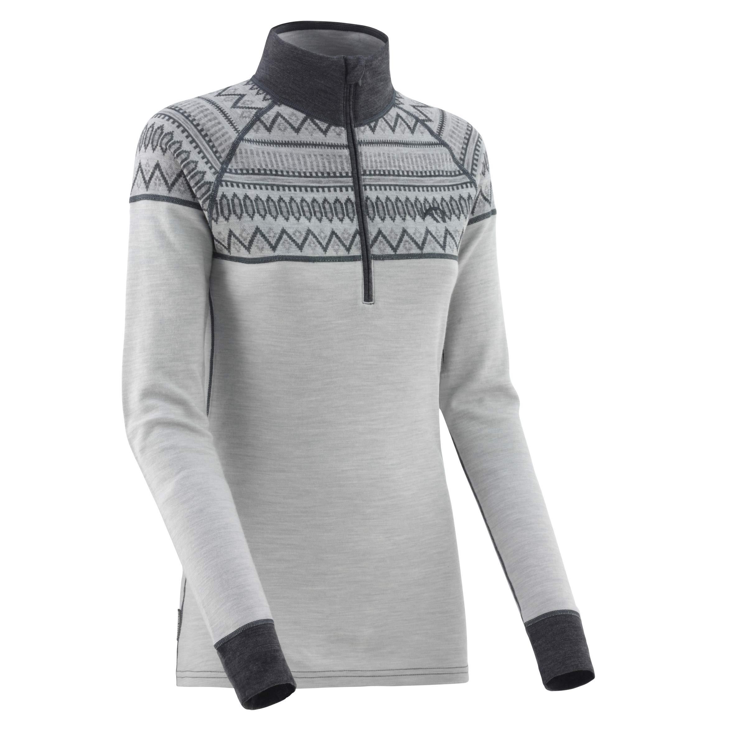 Kari Traa Women's Lokke Base Layer Top - Half Zip 100% Merino Wool Thermal Shirt