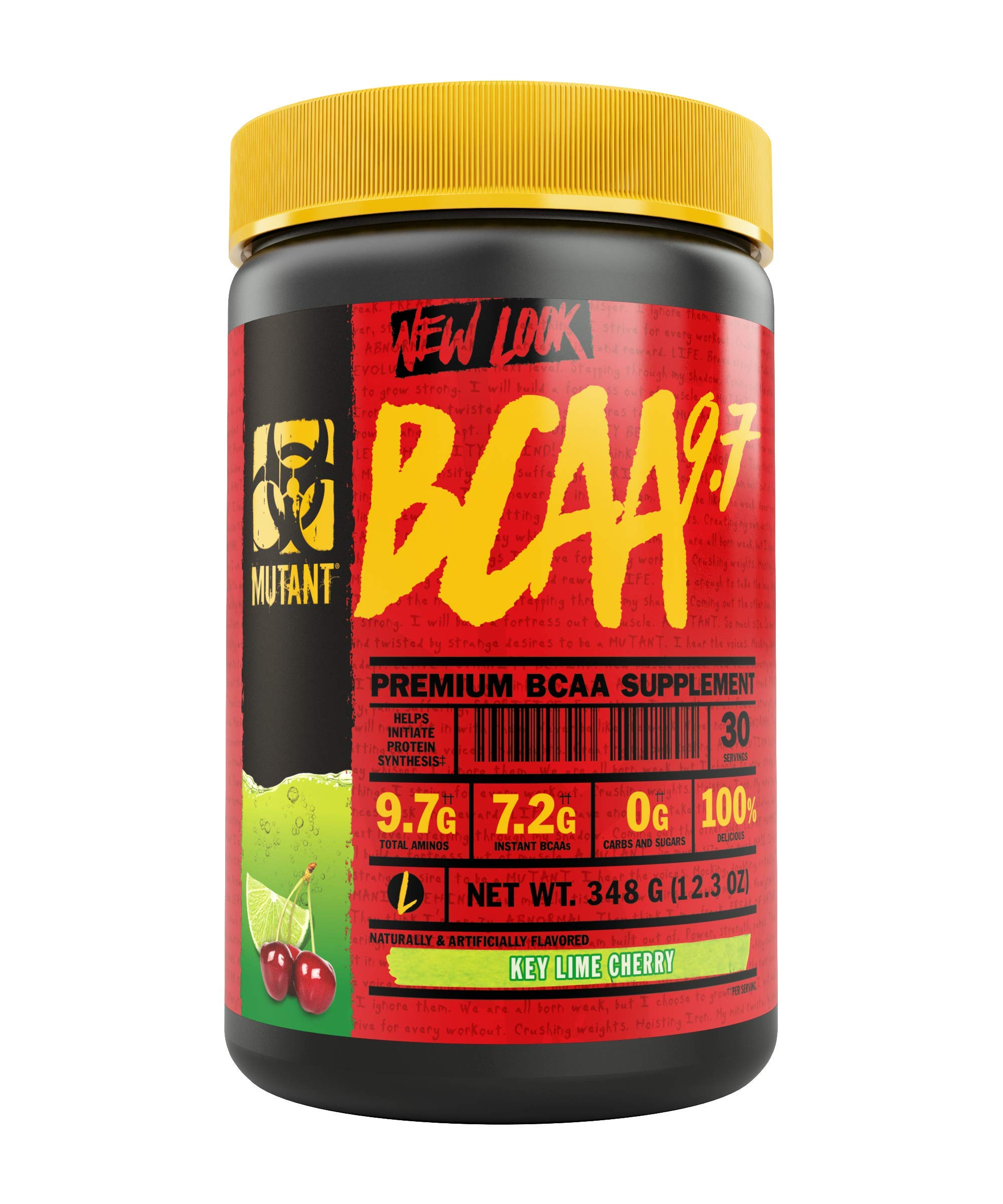 Mutant BCAA 9.7 Supplement BCAA Powder with Micronized Amino Energy Support Stack, 348g - Key Lime Cherry