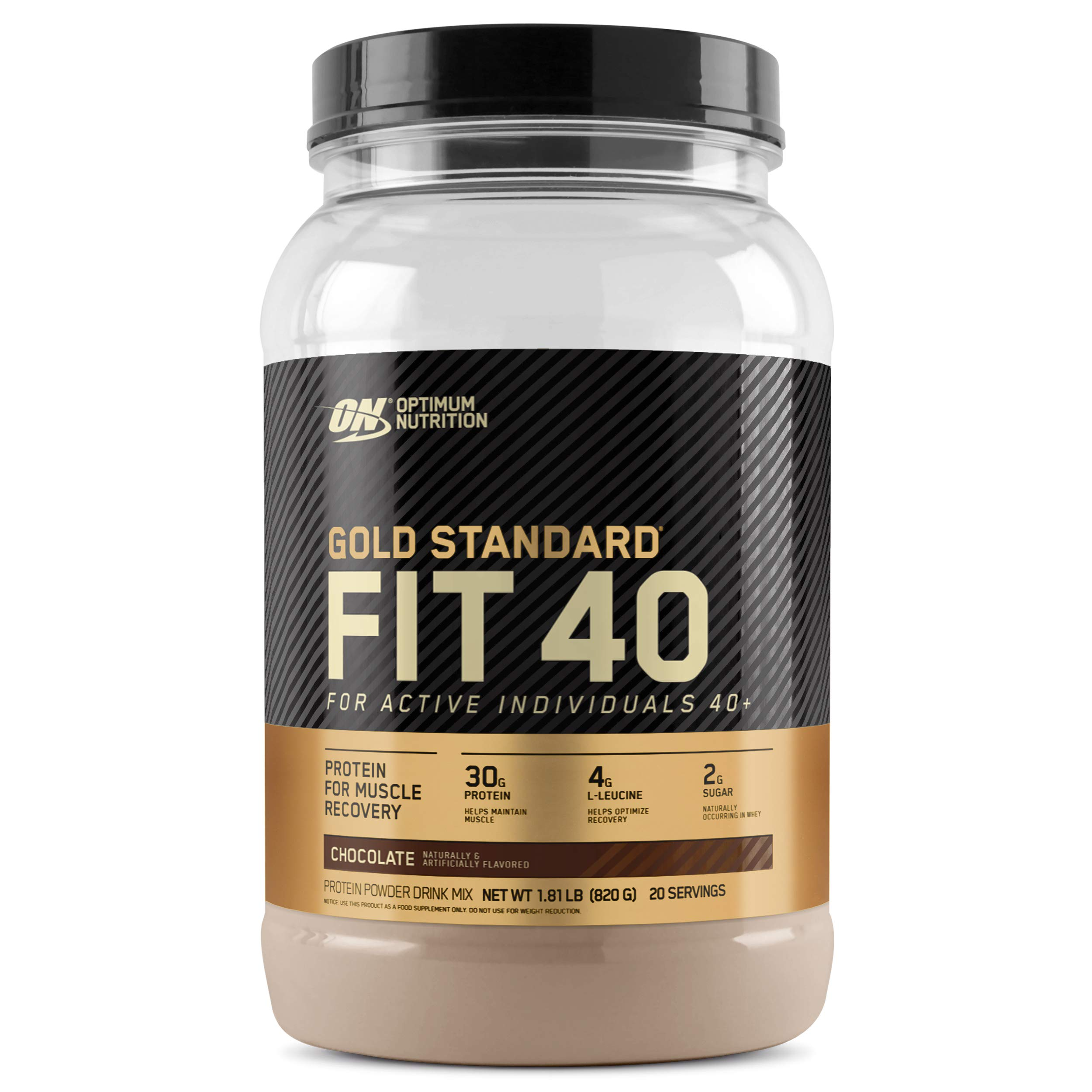 Optimum Nutrition Gold Standard FIT 40 Protein Powder, Chocolate, 1.81 Pounds