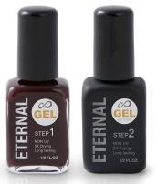 Eternal Gel Nail Polish Kit - Color and Clear Top Coat Gel, No UV Lamp Required (Madley Mahogany)