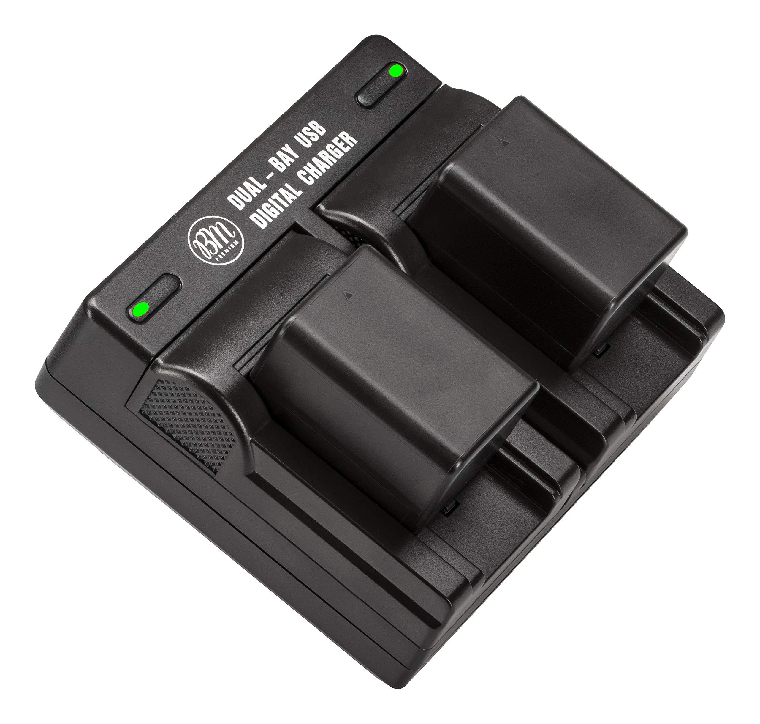 BM Premium 2 VW-VBT190 Batteries and Dual Battery Charger for Panasonic HC-V800K, HC-VX1K, HC-WXF1K, HCV510, V520, V550, V710, HCV720, HC-V750, HC-V770, HC-VX870, HC-VX981, HC-W580, HC-W850, HC-WXF991