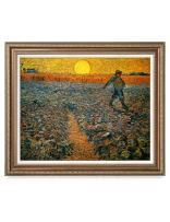 DECORARTS - The Sower, Vincent Van Gogh Art Reproduction. Giclee Print& Framed Art for Wall Decor. 30x24, Framed Size: 35x29
