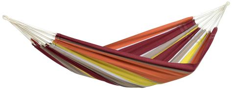 """BYER OF MAINE Eco-Friendly Recycled Cotton/Polyester Brazilian Barbados Hammock, 134""""x58"""", Acerola"""