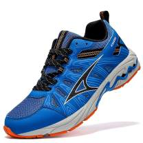 ASHION Mens Road Trail Running Walking Shoes Athletic Gym Workout Tennis Fitness Sneakers for Women Cushion