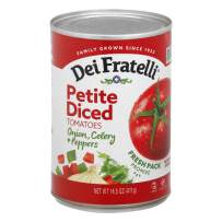 Dei Fratelli Petite Diced Tomatoes with Onion, Celery & Peppers - All Natural - 5th Generation Recipe (14.5 oz. cans; 6 pack)