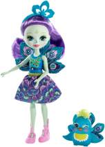 Enchantimals Patter Peacock Doll & Flap Figure, 6-inch small doll, with long purple hair, peacock wings, removable skirt, headpiece and shoes, Gift for 3 to 8 Year Olds [Amazon Exclusive]