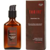 Thrive Natural Shave Oil for Men, 2 Ounces (60mL) – Replaces Pre-Shave Oils, Shaving Creams, Gels, and Foams – Shaving Oil Made in USA with Organic & Unique Premium Natural Ingredients – Vegan