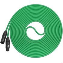 LyxPro Balanced XLR Cable 25 ft Premium Series Professional Microphone Cable, Powered Speakers and Other Pro Devices Cable, Green