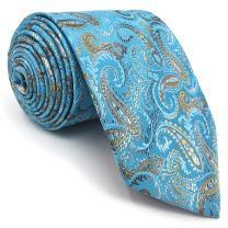 S&W SHLAX&WING Silk Ties for Men Necktie White Golden Black and Cream Tie Hunter Green Set