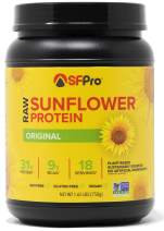 Plant Based Vegan Protein Powder by SFPro (Original)   Premium Sunflower Protein, Single Source   High BCAAs, Balanced Amino Acids, All Natural   1.65lbs
