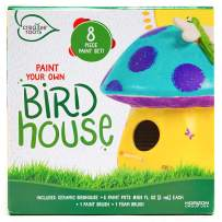 CREATIVE ROOTS Paint Your Own Plaster Mushroom Birdhouse by Horizon Group USA