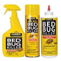 HARRIS Bed Bug Killer Value Bundle Kit - 32oz Bed Bug Killer, 16oz Aerosol Spray, 8oz Diatomaceous Earth Powder