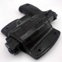 American Leathersmith Leather Car Holster Mountable Gun Holster with Mounting Bracket Pressed to Your Firearm