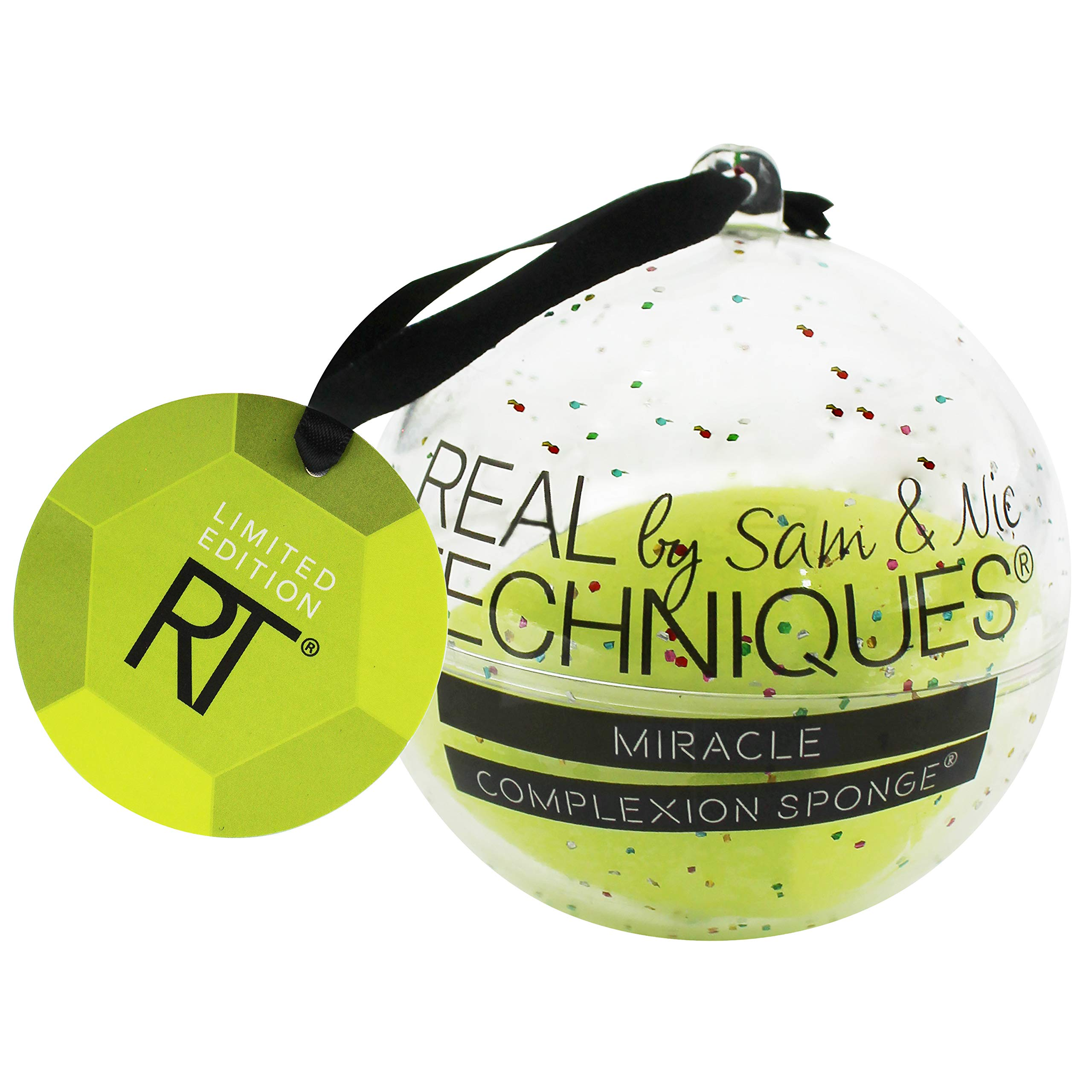 Real Techniques Miracle Complexion Sponge Ornament Cosmetics Sponge for Blending, Ideal For Holiday Gifts (Pack of 1)
