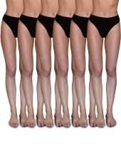 Sexy Basics Women's 6-Pack Active Sport Thong Buttery Soft Panties Underwear