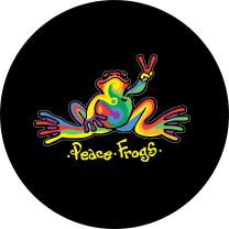 TIRE COVER CENTRAL Peace Frog Retro Tie Dye Swirl Design Spare Tire Cover (Select tire Size/Back up Camera Option in MENU) sizezd to Any Make/Model for 255/75R17