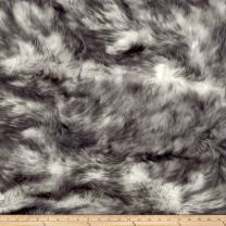 Shannon Fabrics Luxury Faux Fur Candy Shag Fabric by The Yard, Grey