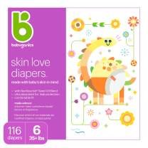Diapers, Size 6, 116 ct, Babyganics Ultra Absorbent Diapers, Packaging May Vary