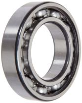 FAG 6206 Radial Bearing, Single Row, ABEC 1 Precision, Open, Steel Cage, Normal Clearance, Metric, 30mm ID, 62mm OD, 16mm Width, 14000rpm Maximum Rotational Speed, 25500lbf Static Load Capacity, 4400lbf Dynamic Load Capacity