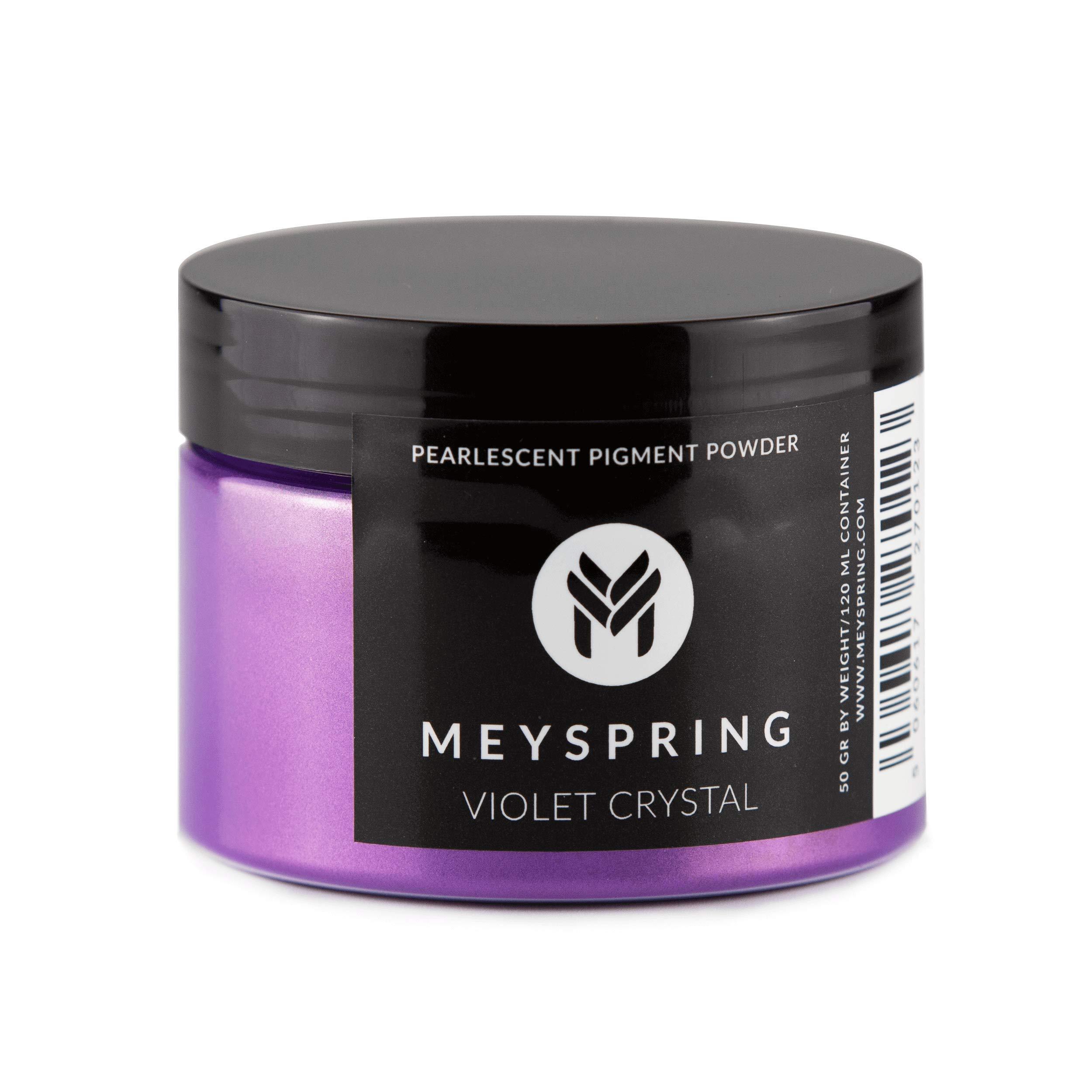 MEYSPRING Violet Crystal Epoxy Resin Color Pigment - 50g - Mica Powder for Epoxy