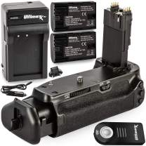 Ultimaxx's Professional, Dynamic Battery Grip Holder (Replacement for BG-E21) Compatible with Canon EOS 6D Mark II DSLR Camera; Works with LP-E6 or LP-E6N Batteries (2X Included)