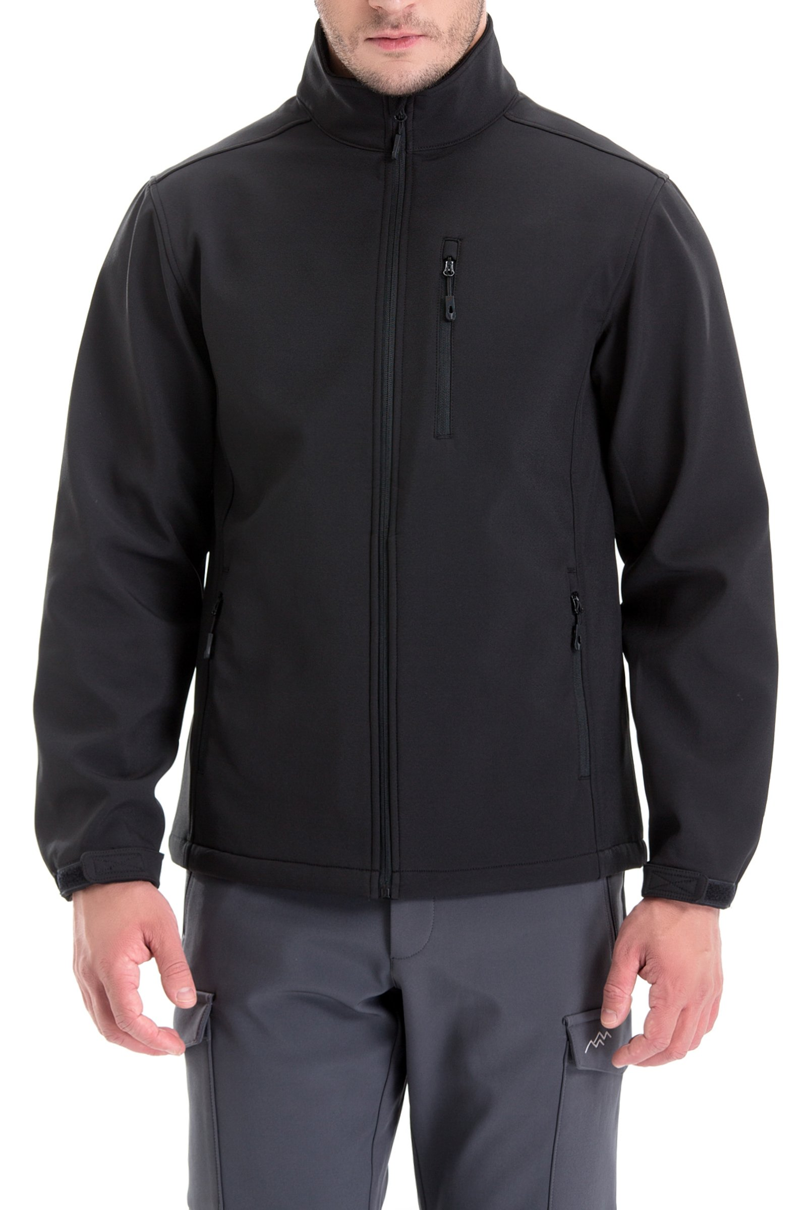 TRAILSIDE SUPPLY CO. Mens Lightweight Winter Softshell Fleece Jackets and Coats