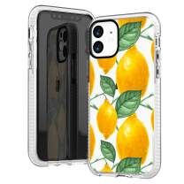 iPhone 11 Case,Cute Lovely Sweet Trendy Sassy Funny Fresh Yellow Lemon Aloha Summer Tropical Lovely Fruits Girls Women Hipster Soft Protective Clear Case with Design Compatible for iPhone 11