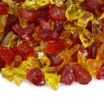 Autumn Blaze - Crushed Fire Glass Blend for Indoor and Outdoor Fire Pits or Fireplaces   10 Pounds   3/8 Inch - 3/4 Inch