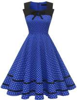Women's 50's Vintage Retro Pinup Style Cocktail Party Swing Wedding Dresses