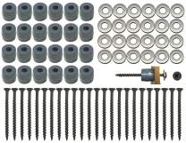 CP3 Inc 72-Piece 24-Sets Pegboard Mounting Kit w/24 Patent Pending Spacers Screws and Washers Best Kit Available …
