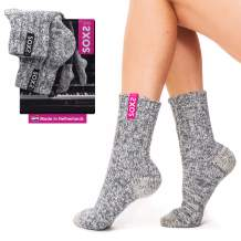 Women's Soft Warm Wool Socks Made in the Netherlands with Breathable Thick Cozy Knit and Eco-Friendly Wool
