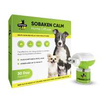 SOBAKEN Calming Diffuser Kit for Dogs, Reduce Anxiety or Aggression, Natural no-Stress Pheromones Formula for Puppy and Grown Dogs, Diffuser, 1 Refill