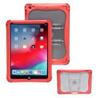 Brenthaven Edge 360 Case Designed for The New Apple for Commercial, Business and Office -Gray, Durable, Rugged Protection from Impact and Compression (Apple iPad 9.7, Red)