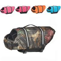 Doglay Dog Life Jacket with Reflective Stripes, Adjustable Dog Lifesaver Pet Life Preserver with High Buoyancy Swimsuit for Small Medium and Large Dogs