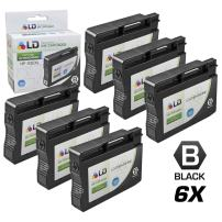 LD Remanufactured Ink Cartridge Replacement for HP 932XL CN053AN High Yield (Black, 6-Pack)