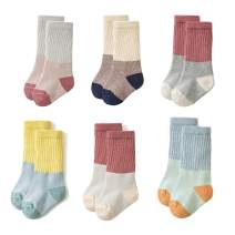 Toddler Baby Girls Boys Socks - Cotton Crew Socks for Baby Gifts Pack