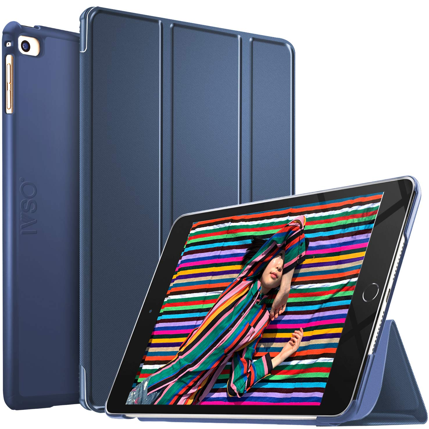 IVSO Case for ipad Mini 5 7.9 inches 2019, Auto Wake,Sleep Ultra Lightweight Protective Slim Smart Cover Case for iPad Mini 5th Generation 7.9 inches 2019 Tablet (Blue)
