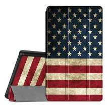Fintie Slim Case for All-New Amazon Fire 7 Tablet (9th Generation, 2019 Release), Ultra Lightweight Slim Shell Standing Cover with Auto Wake/Sleep, US Flag