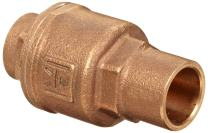 "Milwaukee Valve UP1548T Series Bronze Spring Check Valve, Potable Water Service, 2"" Solder End"