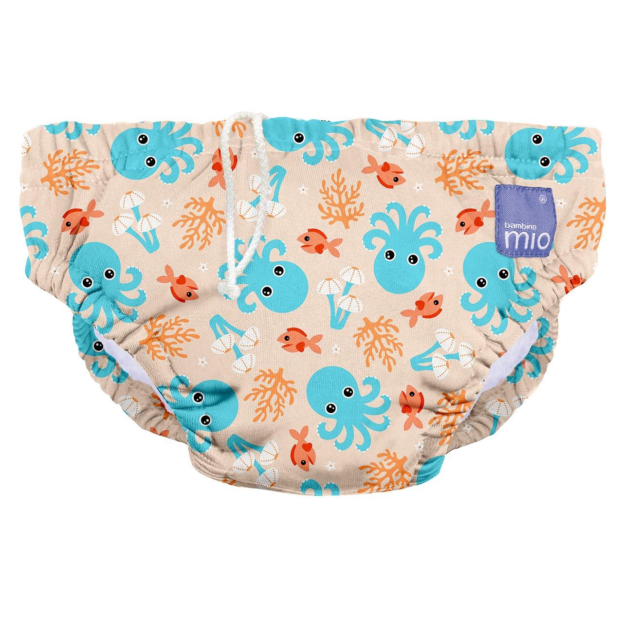 Bambino Mio, Reusable Swim Diaper , Blue Squid , Medium (6-12 Months)