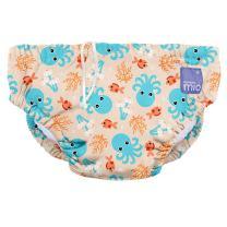 Bambino Mio, Reusable Swim Diaper, Small (0-6 Months), Blue Squid