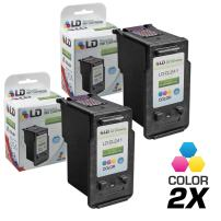 LD Remanufactured Ink Cartridge Replacement for Canon CLI-241XL 5208B001 High Yield (Color, 2-Pack)