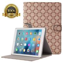 Hsxfl New iPad 7th Generation Case 10.2 Inch 2019, Folio Stand Cover with Auto Wake/Sleep and Multiple Viewing Angles for iPad 7th Gen (Brown)
