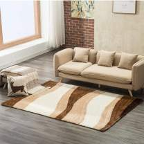 Mecor Soft Fluffy Bedroom Area Rugs, Collection Area Rug Cozy Solid Flokati Shaggy Carpet Multicolor for Living Room/Bedroom Floor(8'x11'),Gray Waves