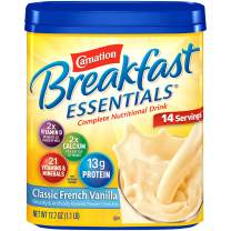 Carnation Breakfast Essentials Powder Drink Mix, Classic French Vanilla, 17.7 Ounce Jar (Pack of 6) (Packaging May Vary)