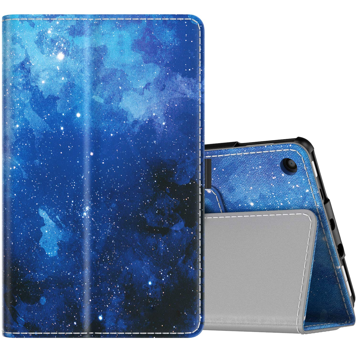 TiMOVO Case Fits All-New Fire 7 Tablet (9th Generation, 2019 Release) - Lightweight Smart Shell Slim Folding Cover Case with Auto Wake/Sleep Fit Amazon Fire 7 Tablet - Blue Star
